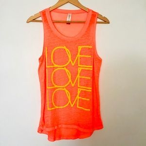"No Boundaries Neon ""Love Love Love"" Graphic Tee"